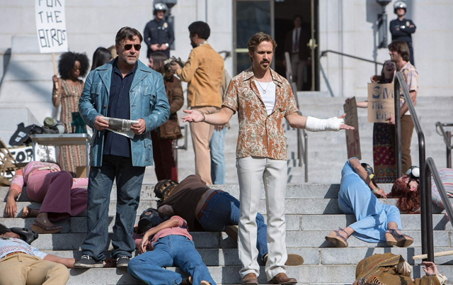 Movies and TV The Nice Guys Dead Protesters Don't Talk Crowe and Gosling