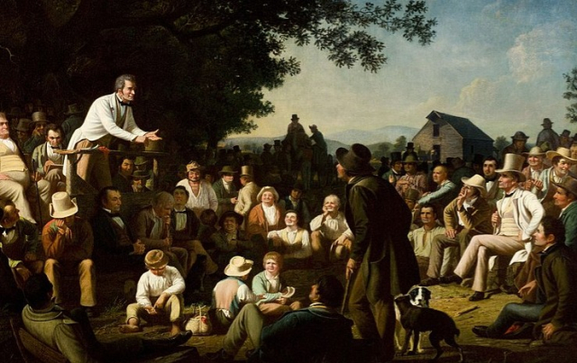 Painting Politics George Caleb Bingham Stump Speaking St Louis Art Museumvia Wikipedia - Edited