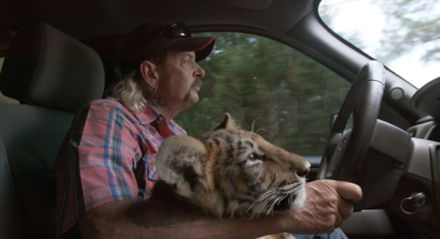 Movies and TV Tiger King Joe Exotic and friend go for a drive - Edited