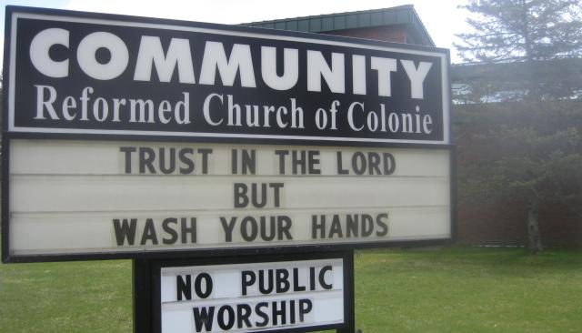 2020 04 17 Niskayuna Trust in Lord but wash hands - Edited