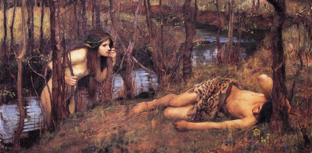 Painting Waterhouse Hylas With a Nymph Detail 1893 via Wikipedia