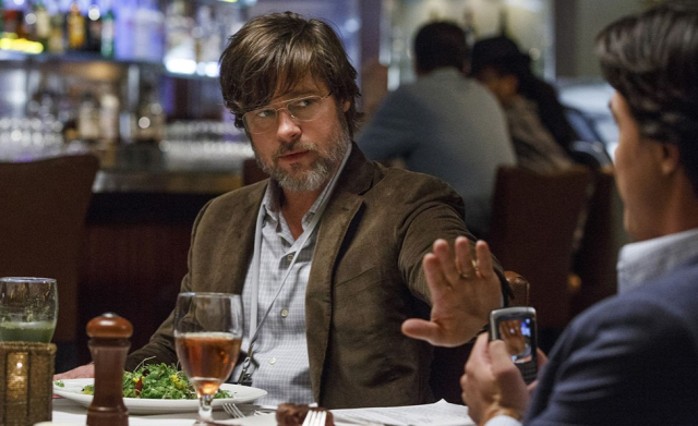 Movies and TV Big Short Pitt as the reluctant Wall St vet - Edited
