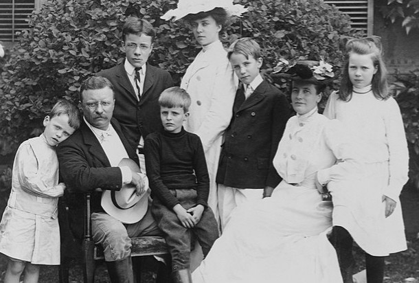 Roosevelt TR The Presidential family 1903 LOC via Wikipedia - Edited