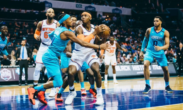 Sports Basketball NBA Knicks RJ Barrett Knicks Hornets 2 26 20 NYK FB - Edited