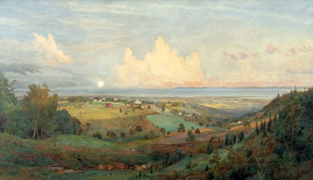 Paintings Jasper Cropsey Looking Oceanward From Todt Hill 1895 Staten Island Museum - Edited