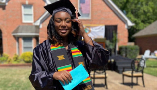 CBS Sunday Graduation 5 18 20 Gabrielle Pierce Xavier 2020 via CBS News