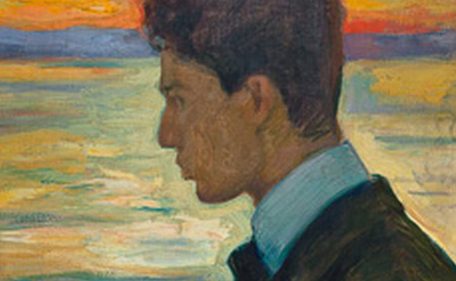 Paintings Books Young Boris Pasternak Detail by Leonid Pasternak via Wikipedia