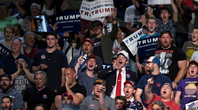 Trump His hideous men showing off their style at Richmond rally Chet Strange NYT - Edited