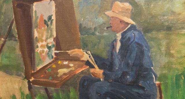 Churchill Painter at work Detail Paul Lucien Maze circa 1931 National Churchill Museum via Churchill Project