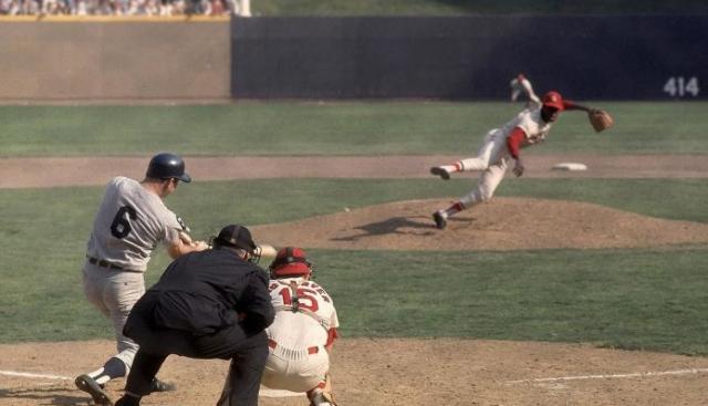 Baseball MLB World Series 1968 Gibson pitching to Kaline Game 1 Oct 2 68