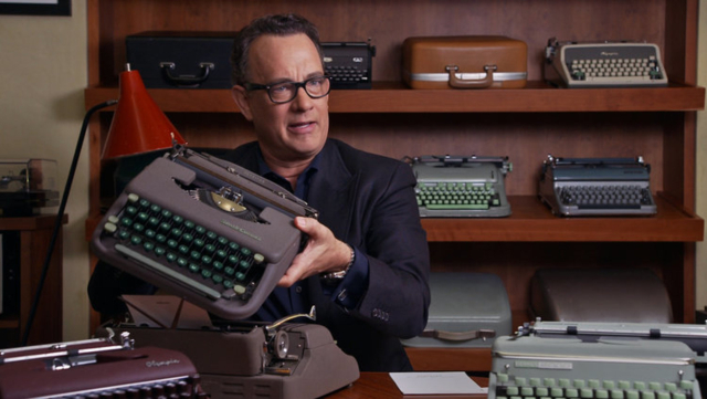 Movies and TV Tom Hanks Typist Writer Actor 2 California Typwriter 2016