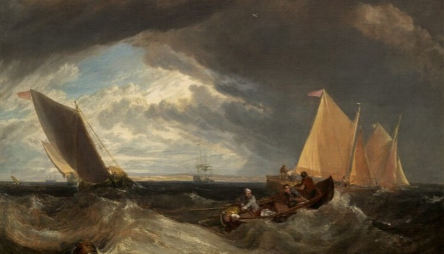 Painting JM Turner Junction of Thames and Medway 1807 NGA - Edited
