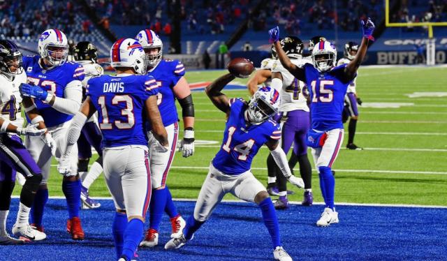 Football NFL NFC Divisonal Playoff 2021 Bills Ravens Stephon Diggs TD Rich Barnes USA Today Sports - Edited
