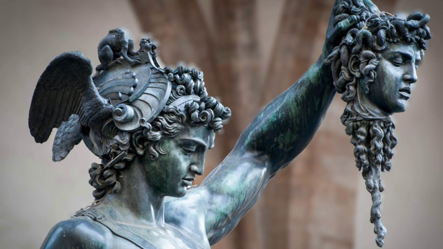 Sculpture Cellini Perseus With the Head of Medusa Close up via Daily Art Magazine