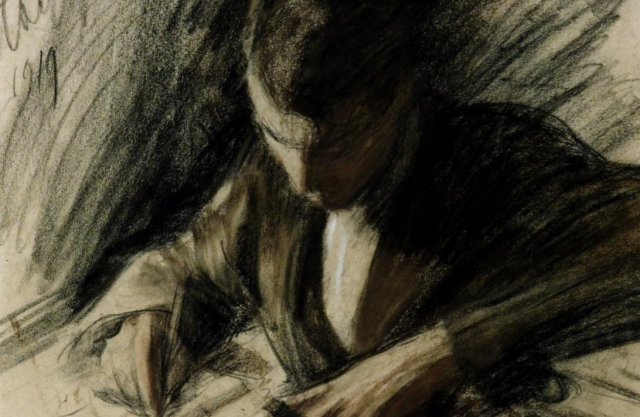 Poets and Writers Pasternak Boris Pasternak Writing Detail Leonid Pasternak 1919 Tate - Edited (1)
