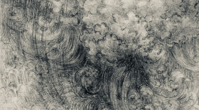 Painting Da Vinci A Deluge Pen and Ink drawing detail 1517 1518