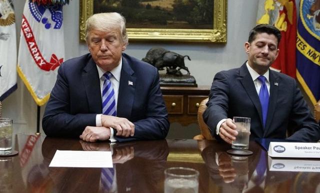 Trump The dispeasure of their company Trump and Ryan 2018 Evan Vuccit AP (2)
