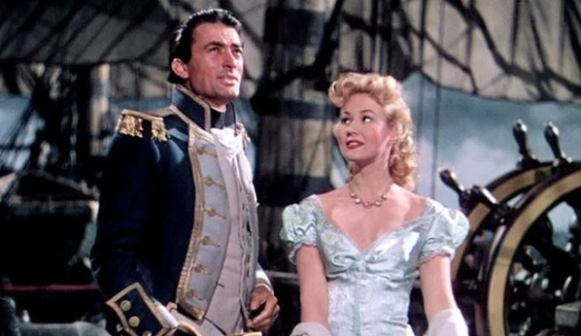 Movies and TV Captain Horation Hornblower RN Gregory Peck as Hornblower Virginia Mayo as Lady  Barbara Wellesley (2)