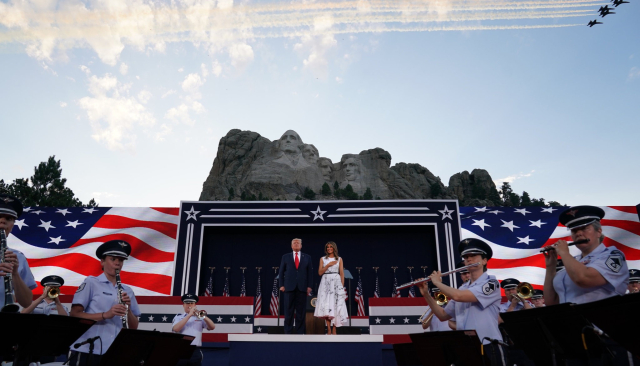 Trump at Mount Rushmore Monumetalizing his ego Anna Moneymaker for the NYT July 3 2020 - Edited