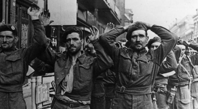 History WW II British POWs at Arnheim German Federal Archives via Wickipedia - Edited