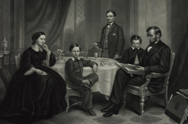Lincoln Family at home in the White House 1861 LOC (2)
