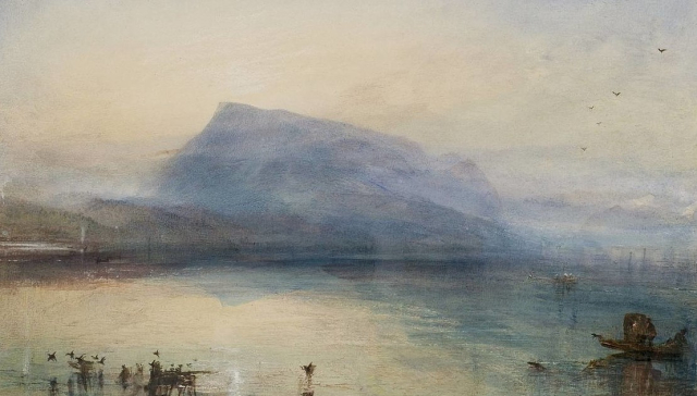 Painting JMW Turner Blue Rigi Sunrise 1842 Tate via Wikipedia (2)