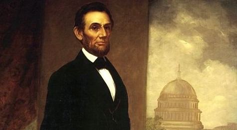 Lincoln Portrait William Cogswell 1869 White House via Wikimedia Commons