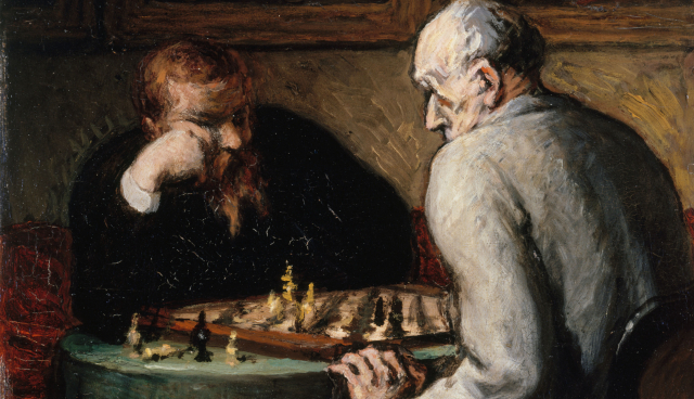 Paintings Daumier Detail The Chess Players 1863 1867 Musee des Beaux Arts