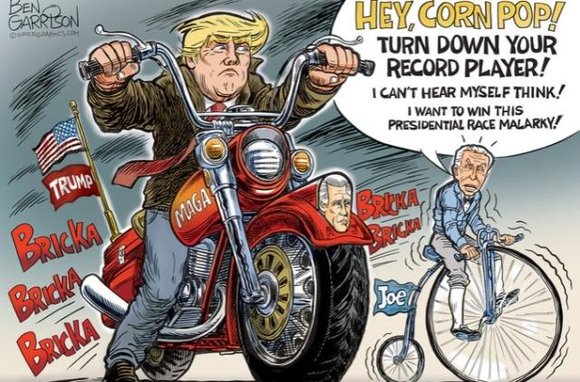 Trump Cartoon Great Race Ben Garrison 8 4 20 GrrrGraphics Twitter - Edited