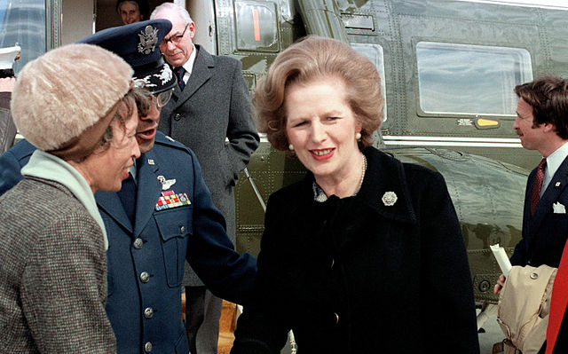 Politics Thatcher Leaving Washington March 2 1981 US Military photo via Wikimedia Commons