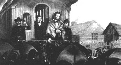 Lincoln Farewell to Springfied Feb 11 1861 - Edited