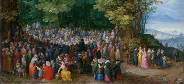 Paintings Bible Breughel the Elder Sermon on the Mount 1598 Detail Getty via Wikipedia