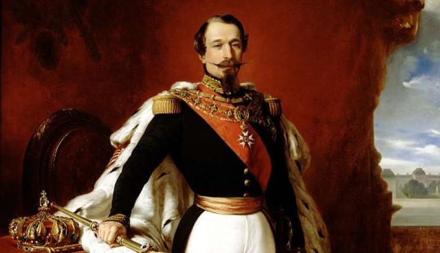 History France Napoleon III Portrait Franz Xaver Winterhalter 1855 Napoleonic Museum via Wikimedia Commons - Edited