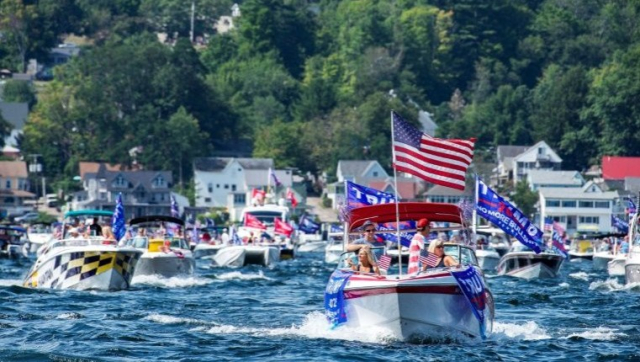 Trump Boat Parade Lake Winnipesaukee NH 8 22 20 c Joseph Prezioso via MSN - Edited