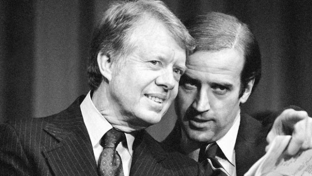 Biden Jimmy and Joe at fundraiser in 1978 Barry Thumma AP via Fayetteville Observer