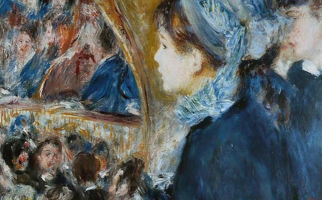 Paintings Renoir La Première Sortie 1876-77 NG Wikipedia - Edited