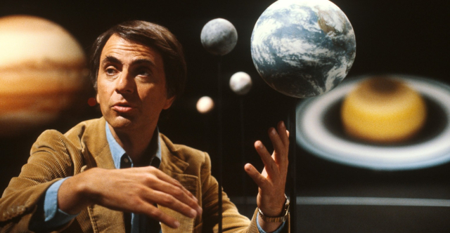 Science Carl Sagan Cosmos Solar System via SyFy Wired - Edited